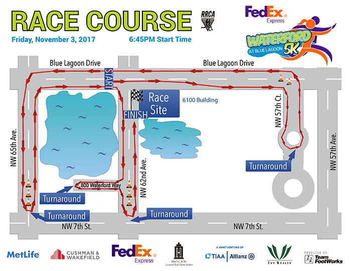 Fedex Waterford 5K Course Map